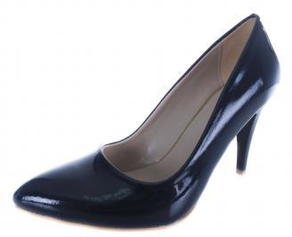 Дамски обувки на ток еко кожа/лак тъмно сини WAAJ-19718