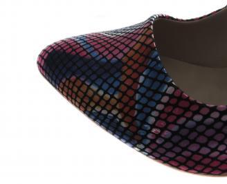 Дамски обувки на ток еко кожа шарени TNVB-19729