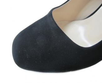 Дамски обувки набук черни PDSW-16028