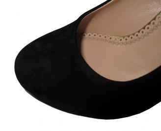 Дамски обувки набук черни SUPE-16036