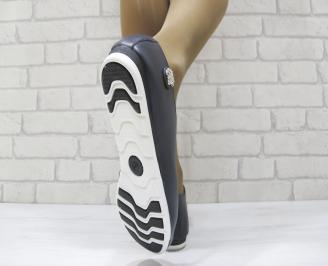 Дамски обувки от естествена кожа Гигант тъмно сини JLYN-23167