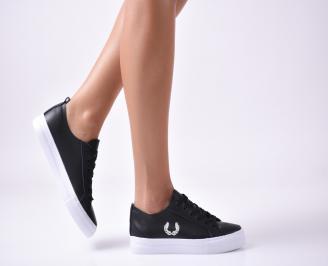 Дамски  обувки равни  черни еко кожа OOOD-1010000