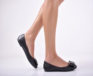 Дамски  обувки равни  черни еко кожа ZDUS-1011725