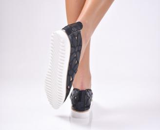 Дамски  обувки равни  черни еко кожа TDVF-1012300
