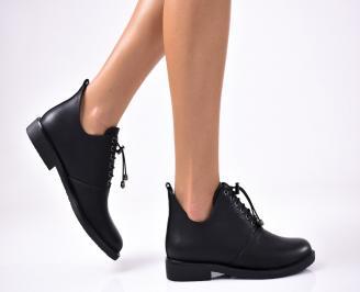 Дамски  обувки равни  черни еко кожа OANP-1012933