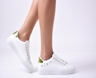 Дамски  обувки равни  еко кожа бели AJYN-1010001