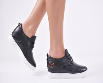 Дамски  обувки равни еко кожа черни PSCJ-1011114