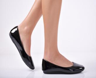 Дамски обувки равни еко кожа/ лак черни PUQV-1011727