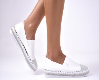 Дамски  обувки равни  еко кожа бели IEKC-1012564