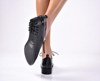 Дамски обувки равни еко лак черни XQNS-1012925
