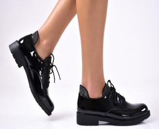 Дамски обувки равни еко лак черни RMKN-1012926