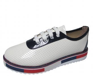 Дамски обувки равни еко кожа бели YBAE-21154