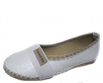 Дамски обувки равни еко кожа бели ONJB-21304