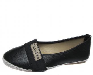 Дамски обувки равни еко кожа черни RYUN-21305
