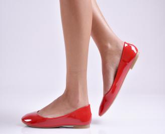 Дамски обувки равни еко лак червени YKLC-26942
