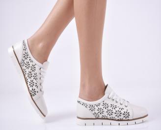 Дамски обувки равни естествена кожа бежови GALA-1011001