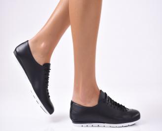 Дамски обувки равни естествена кожа черни IAZJ-1012820