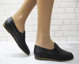 Дамски обувки равни естествена кожа черни BXBG-22866