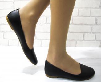 Дамски обувки равни естествена кожа черни DYNA-22873