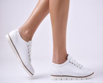 Дамски обувки равни естествена кожа бежови FXON-26483