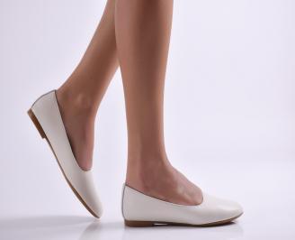 Дамски обувки равни естествена кожа бежови CAMK-26912