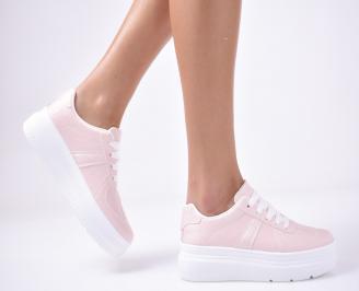Дамски  обувки равни розови PBMI-1013260