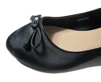 Дамски обувки сатен черни FJDE-15885