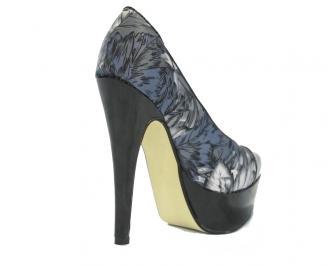 Дамски обувки сатен шарени TBOP-10458