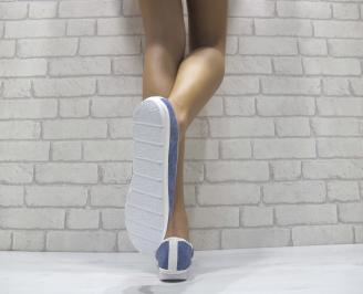 Дамски  обувки  сини еко кожа AQUP-24109