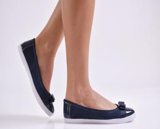 Дамски  обувки  сини естествена кожа JPYB-23514