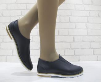 Дамски  обувки  сини естествена кожа KHTL-23765