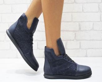 Дамски обувки сини естествена кожа RMTJ-25015