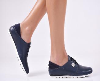Дамски  обувки  сини естествена кожа OVJA-25018