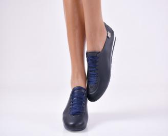 Дамски  обувки  сини естествена кожа ILXH-25019