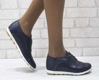 Дамски  обувки  сини естествена кожа YDIO-25187