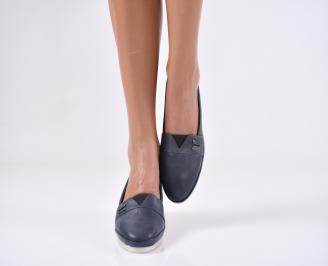 Дамски  обувки  сини естествена кожа HEND-25334