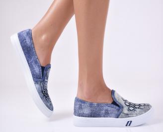 Дамски  обувки  сини текстил TRGK-24413
