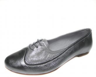 Дамски обувки сребристи естествена кожа GTVF-18876