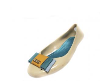 Дамски обувки тип пантофки еко материали бежови IDRL-13058