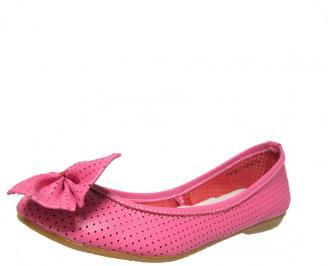 Дамски обувки тип пантофки естествена кожа розови KTPQ-13132