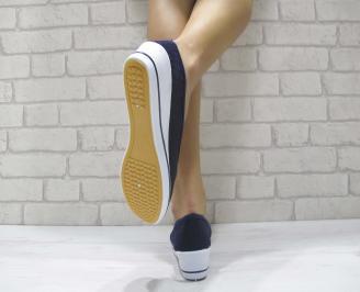 Дамски  обувки  тъмно сини текстил EIEM-23987