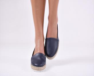 Дамски  обувки  тъмно сини  еко кожа ZVKL-24049