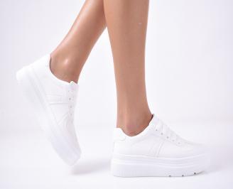 Дамски равни обувки бели JVNJ-1013263