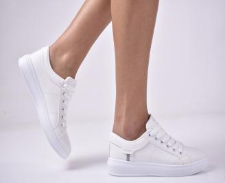Дамски равни обувки бели GHXF-1013280