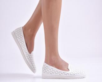 Дамски  равни обувки  бели еко кожа BBTP-26963