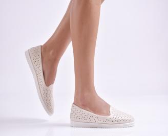 Дамски  равни обувки  бежови еко кожа SYUY-26966