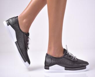 Дамски  равни обувки еко кожа черни. AYET-1013611
