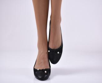 Дамски равни обувки еко велур черни. VNWM-1014069