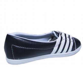 Дамски равни обувки еко кожа тъмно сини XZKL-20233