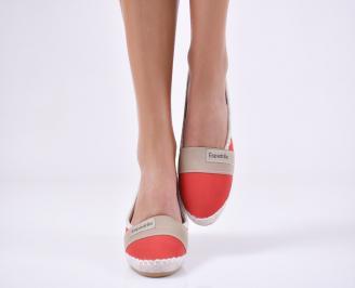 Дамски равни обувки еко кожа червени UGKV-21306